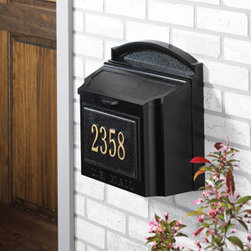 Whitehall Products LLC - Wall Mailbox - Black - Wall Mailbox Only Plaque must be purchased separately