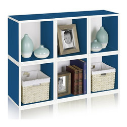 Way Basics - Way Basics Design A Cube Tall Bookcase - BS-285-340-390-CR - Shop for Storage and Organizers from Hayneedle.com! The Way Basics Design A Cube Tall Bookcase isn't your average storage block. This extended modular storage unit offers a bit more space than the standard cube but all the benefits of the Way Basics Design. Dare to put just about anything in this space but don't be shy about using multiples to create your own modern storage masterpiece. The only limit is your imagination. These pieces are crafted from durable zBoard recycled paperboard making them incredibly strong water resistant and completely recyclable. Forget the tools and various bags of screws other shelves require for assembly; just peel and stick the special 3M Brand adhesive strips and fit the pieces together. Includes 1 double sided backer board required for assembly. Choose between matching wood grain or classic white. Available in Black Blue Cedar Espresso Green Orange and White subject to inventory supply. About Way BasicsWay Basics is an innovator of eco-friendly furniture and has been creating a wide variety of products using recycled materials for their customers to enjoy in the home and office. Their products require no tools to assemble and are designed to add style and function to any space without leaving a heavy footprint on the environment. Way Basics also works with furniture banks and charities around the globe to help those families in need and is a founding member of the Sustainable Furnishings Council a coalition united to promote environmentally healthy practices in the industry.