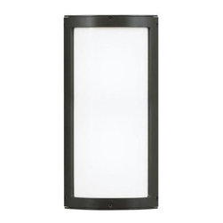 Lbl Lighting - Outdoor Wall Light - Minimal outdoor luminaire with extruded aluminum housing, die-cast end caps and opal glass cover. IP67 rated. May be mounted vertically or horizontally. Incandescent includes (2) E26 medium base 60 watt or equivalent BT15 halogen lamps; fluorescent includes (1) 2G11 base 24 watt twin tube compact fluorescent lamps and electronic ballast. Fluorescent version may also be lamped with (1) 2G11 base 27 watt twin tube compact fluorescent lamp (not included). ADA compliant 120 or 277v.