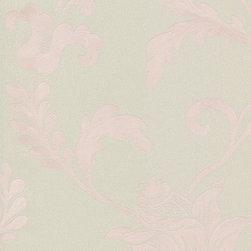 Wallpaper Worldwide - Louvre - Luxe Vines Wallpaper, Green, Pastels, Pink - Material: Non-woven. PVC.
