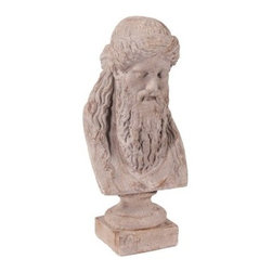 Ancient Greek Philosopher Oversized Ceramic Bust - Just because he doesn't have a name doesn't mean that you can't enjoy this decorative staple, and you'll find it easy to add the Ancient Greek Philosopher Oversized Ceramic Bust to any space. Crafted from high-quality ceramics, this appealing bust features a rich textured and antiquated finish.