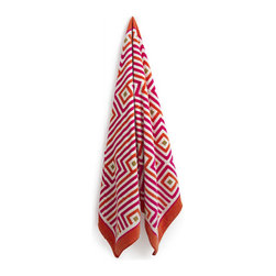 Orange and Pink George Beach Towel - I like the idea of integrating patterns in unexpected places, like the bathroom. These fun towels by Jonathan Adler are just the thing to bring a normally bland space up to date.