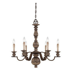 Minka Lavery - Minka Lavery 4316 6 Light 1 Tier Candle Style Chandelier from the Regents Row Co - Six Light Single Tier Candle Style Chandelier from the Regents Row CollectionFeatures: