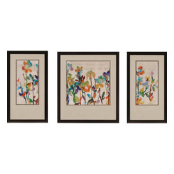 Paragon - Nectar PK/3 - Framed Art - Each product is custom made upon order so there might be small variations from the picture displayed. No two pieces are exactly alike.