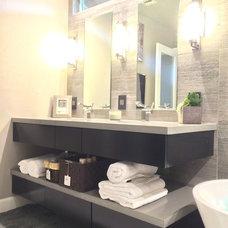 Modern Bathroom by CHJ Designs