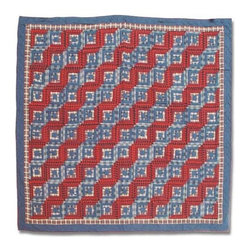 Patch Quilts - Red Log Cabin Twin Quilt - -Constructed of 100% Cotton  -Machine washable; gentle dry  -Made in India Patch Quilts - QTRLC