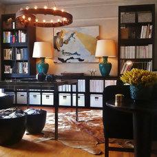 Eclectic Home Office by Phillip Lantz Design