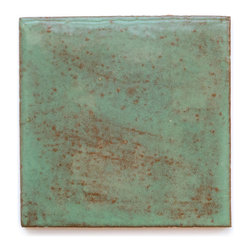 131R Turtle Shell (Glossy Finish) - Handmade Ceramic Tile - Handmade Ceramic Tile