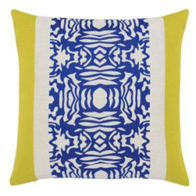 "New Elaine Smith Pillows - Machu Picchu Cobalt Block - 22"" x 22"" Elaine Smith Pillows"