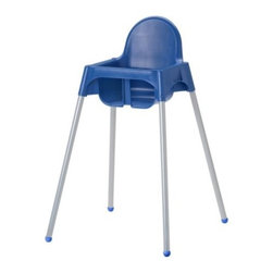 IKEA of Sweden - ANTILOP Highchair with safety belt - Highchair with safety belt, blue