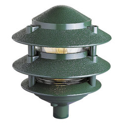 Progress Lighting - Progress Lighting P5204-38 120v Line Voltage 100W Pagoda-Style Three-Tier Solid - Features: