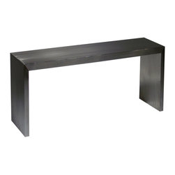 Nuevo Living - Reese Console Table, Large - This console's sleek, minimalist design allows the beautiful brushed stainless steel finish to shine. And shine it does, giving your room a welcome dose of brightness and modern glamour. Decorate it with some striking candleholders or use it for your flatscreen.