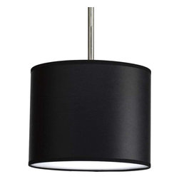 Progress Lighting - Progress Lighting P8820-01 Markor Drum Pendant Light In Black Parchment -