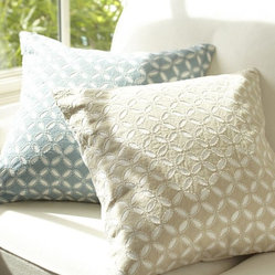 Audrey Eyelet Appliqué Pillow Cover