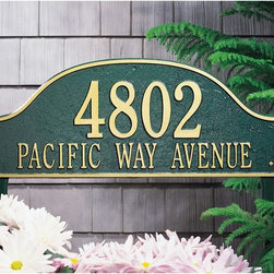 Whitehall - Whitehall Admiral 2-line Lawn Plaque - 1244AB - Shop for Mailboxes and Accessories from Hayneedle.com! About WhitehallWhitehall is the world's largest manufacturer of weathervanes but the business points a lot more ways than east west north and south. Inspired by traditional handcrafted designs and quality Whitehall also makes gorgeous mailboxes address plaques and outdoor accents. They're based in western Michigan building American tradition and quality into every product they make.