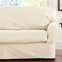 Separate Seat Square Cushion Loose-Fit Slipcover, Twill - Freshen up your couch with slipcovers that will transform your room into an airier space.