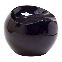 LexMod - Plop Stool in Black - Fun and modern the Plop Stool makes its appearance as if out of nowhere. Its surprising downward flow makes it a ready piece capable of conveying vast originality to your decor. Formed from strong and durable ABS plastic polished in high gloss enamel, tas