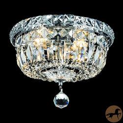 Christopher Knight Home - Christopher Knight Home Crystal Chandelier Flush Mount Light - Setting: IndoorFixture finish: ChromeShades: Crystal