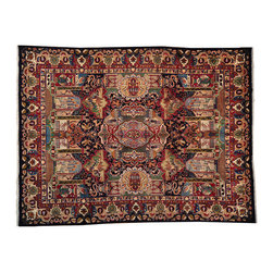 Persian Kashmar 10'X13' Rug, Archaeology Design Signed Hand Knotted Rug SH12934 - Hand Knotted Persian Rugs From Iran are know to be the highest quality rugs from around the world.  The weavers from Iran are also known to be the most skilled.  There's many different persian designs and these designs are derived from the city that they're woven in.