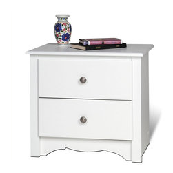 Shop white 2 drawer nightstand nightstands bedside for How to make a nightstand higher