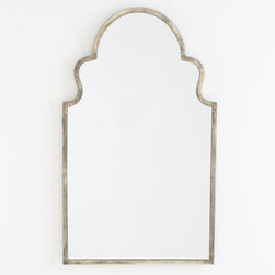 Antiqued Moroccan Mirror - I've had this mirror from Wisteria on hold for a while now, but I'm not willing to give up on it. I love the look of the silver leaf paired with the Moroccan shape. It would look great in my dining room, but I would also love to see it over the sink in a master bath.