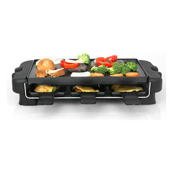 Eware - E-Ware Non-stick Electric Grill with 6 Small Pans - Enjoy all of your favorite healthy foods without dealing with messy charcoal by investing in this simple electric grill. The nonstick coating allows you to cook burgers and fish without a lot of extra oil. Six plates help you make a variety of dishes.