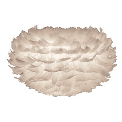 "VITA Lighting Denmark - Danish Goose Feather Lamp Mini, 12.5"" - Danish functionality paired with great style! Vita makes affordable lighting of Danish design packed in flat boxes. The EOS Mini lamp is made with 900 goose feathers and is sure to add charm and style to your home, also great for kids rooms.  Use on a tripod [comes in matte white] or grouped together in a corner [cord/tripod sold separately]."