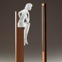 Art glass sculpture-CONVERSATION MONOCHROMY -