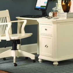 """Woodbridge Home Designs - 8891 Series 2 Drawer Cabinet Computer Desk - This great cottage style cabinet desk will make any room sparkle and shine. white finish is just right to decorate any room setting. Features: -Set includes cabinet and desk support legs. -Wood construction. -Cottage style. -Cabinet has two drawers. -Dimensions: 29.5"""" Height x 53.5"""" Width x 23"""" Depth."""