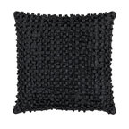"""Surya - Looped Design Square Pillow BB-037, 18"""" X 18"""" - This pillow brings texture to any space. With a looped design, this decorative pillow adds a bit of fun to your room. The color black accents this pillow. This pillow contains a poly fill and a zipper closure. Add this pillow to your collection today."""