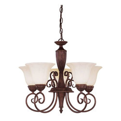 Savoy House - Savoy House Liberty 5-Light Chandelier in Walnut Patina KP-1-5001-5-40 - Climb into your horse drawn carriage and go back in time with the Liberty collection. A dignified Colonial design with a rustic Walnut Patina finish almost makes this collection an American treasure.