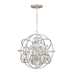 Crystorama - Crystorama 9025-OS-GS-MWP Chandelier - Crystal chandeliers are glamorous and old Hollywood. We have expanded our best selling Solaris Collection to add crystal elements inside the perfect sphere. We have married the contemporary sphere with the cut crystal chandelier, making the most beautiful