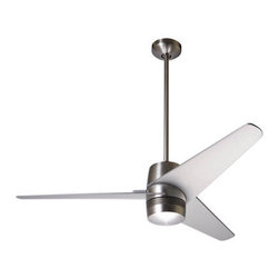 Velo Ceiling Fan - Room & Board - Remember on Trading Spaces when the designers used to almost come to blows with the homeowners about ripping out hideous ceiling fans and replacing them with a ceiling medallion or pendant light? They would never have had such problems with them if they were this cool looking back then.