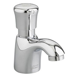 American Standard - American Standard 1340.109.002 Pillar Tap Metering Faucet-Spout, Polished Chrome - American Standard 1340.109.002 Pillar Tap Metering Faucet w/ Extended Spout, Polished Chrome. This metering faucet features a cast spout, a 1.5 GPM pressure compensating vandal-resistant aerator, an easy-push handle, and an automatic shut-off to reduce water and energy waste. This model comes with an extended spout.