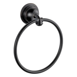 Delta 79446-RB Linden Towel Ring in Venetian Bronze