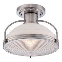 Quoizel - Quoizel QF1678 Warren 1 Light Semi-Flush Ceiling Fixture - Features: