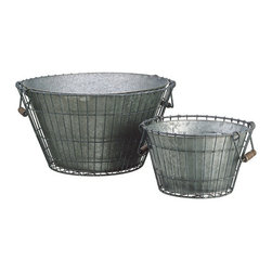 Silk Plants Direct - Silk Plants Direct Galvanized Bucket Round in Antique Wire Holder (Pack of 1) - Pack of 1. Silk Plants Direct specializes in manufacturing, design and supply of the most life-like, premium quality artificial plants, trees, flowers, arrangements, topiaries and containers for home, office and commercial use. Our Galvanized Bucket Round in Antique Wire Holder includes the following:
