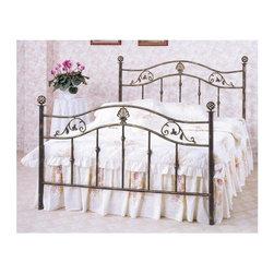 Homelegance - Metaline Low Post Bed (Queen) - Choose size: Queen
