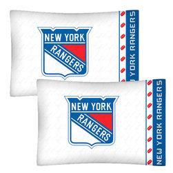 Store51 LLC - NHL New York Rangers Hockey Set of 2 Logo Pillowcases - Features: