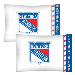 Store51 LLC - NHL New York Rangers Hockey Set of 2 Logo Pillowcases - Features: