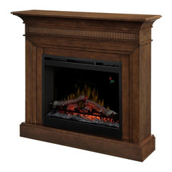 Dimplex - Dimplex Harleigh Walnut Electric Fireplace Brown - DFP26L-1475WN - Shop for Fire Places Wood Stoves and Hardware from Hayneedle.com! Crafted in a gorgeous traditional mantel style the Dimplex Harleigh Walnut Electric Fireplace offers romantic fireplace ambience without the fumes and harmful particles. Designed with innovative LED technology this plug-in fireplace provides a lifelike flame effect enhanced by the pulsing glow of hand-finished non-burning logs. A fan-forced heater creates energy-efficient warmth for rooms up to 400 square feet and is easily controlled with a push-button remote and screen display. Durably crafted from MDF and wood veneer this fireplace is finished in classic walnut and accented with a fluted face and decorative molding.About DimplexDimplex North America Limited is the world leader in electric heating offering a wide range of residential commercial and industrial products. The company's commitment to innovation has fostered outstanding product development and design excellence. Recent innovations include the patented electric flame technology - the company made history in the fireplace industry when it developed and produced the first electric fireplace with a truly realistic wood burning flame effect in 1995. The company has since been granted 87 patents covering various areas of electric flame technology and 37 more are pending. Dimplex is a green choice because its products do not produce carbon monoxide or emissions.