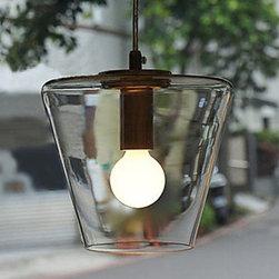 ceiling lights - 40W Contemporary Pendant Light with High-transparent Glass Shade