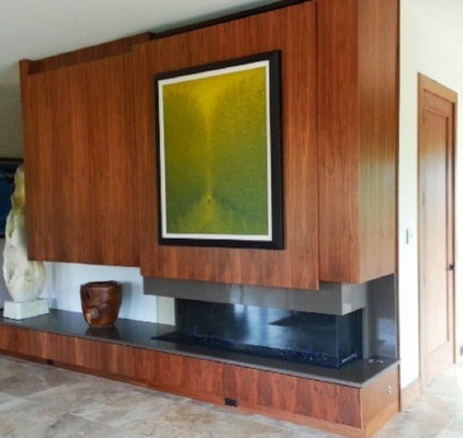 Contemporary Living Room by Hot Concepts Fireplaces