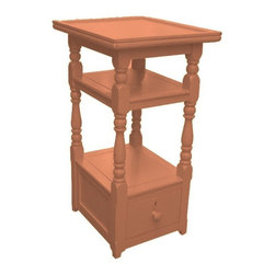 EuroLux Home - New Nightstand Pink Painted Hardwood Cottage - Product Details
