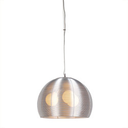 IFN Modern - Lendex 3 Light Dome Pendant - Stainless steel just got a new lease on light in this dazzling pendant. If yours is a contemporary or modern decor this light is a quiet, elegant touch of restraint. In a more traditional space, this light will steal the show.â— Aluminumâ— Stainless Steel Finishâ— Incandescent 60 Watt Bulb (Not Included)â— 4.5lbsâ— 110 Voltsâ— Shade Diameter - 15.7""