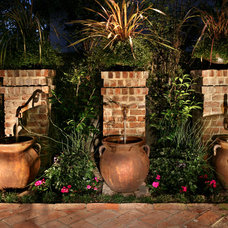 Traditional Outdoor Fountains by Urban Landscape