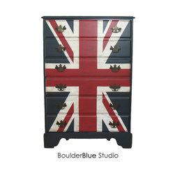 Vintage Union Jack  Dresser - Boulder Blue Studio