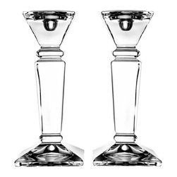 Jay Import Co. - Majestic Crystal Set of 2 Candle Holders - Add elegenace to your home with this Majestic Crystal candle holders.
