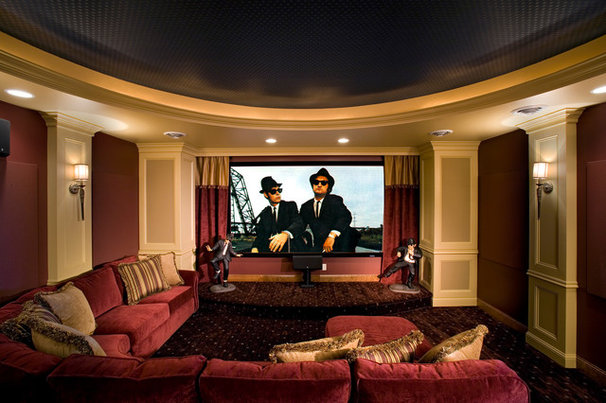 Traditional Home Theater by Michael Lee, Inc