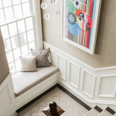 Transitional Staircase by Terrat Elms Interior Design